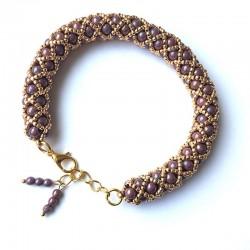 Gaja (violet) - bransoletka